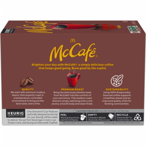 McCafe Premium Medium Roast Coffee K-Cup Pods Perspective: left