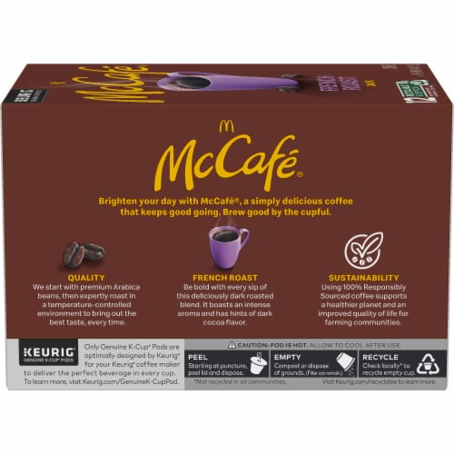 McCafe Bold & Dark French Roast Coffee K-Cup Pods Perspective: left