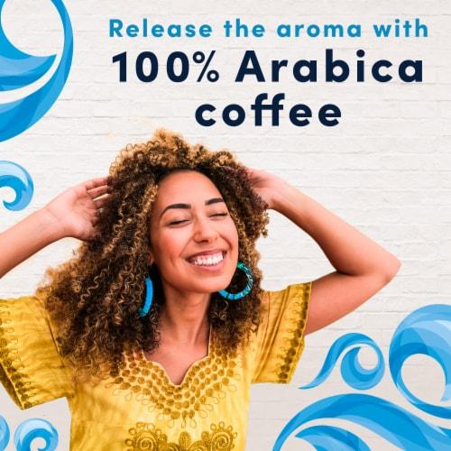 Gevalia Vanilla Latte Espresso Coffee K-Cup Pods & Froth Packets Perspective: left