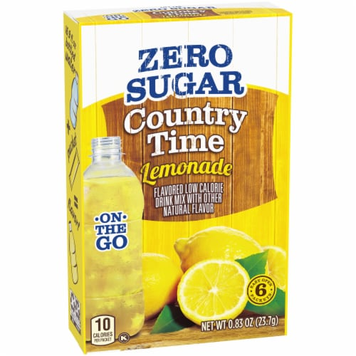 Country Time On-The-Go Sugar-Free Lemonade Flavored Drink Mix Packets Perspective: left