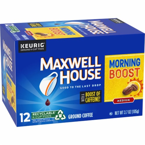 Maxwell House Morning Boost Medium Roast Coffee K-Cup Pods Perspective: left