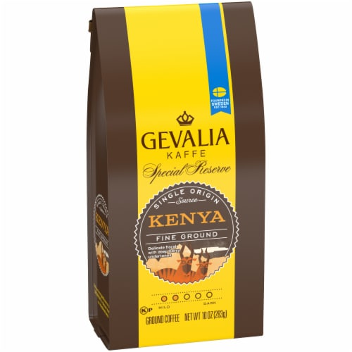 Gevalia Special Reserve Kenya Fine Ground Coffee Perspective: left