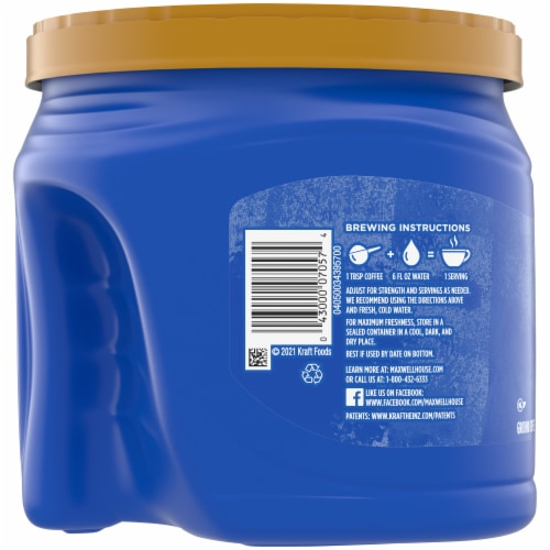Maxwell House Smooth Bold Roast Ground Coffee Perspective: left