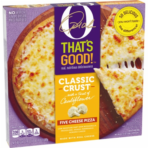 O That's Good Five Cheese Pizza Perspective: left