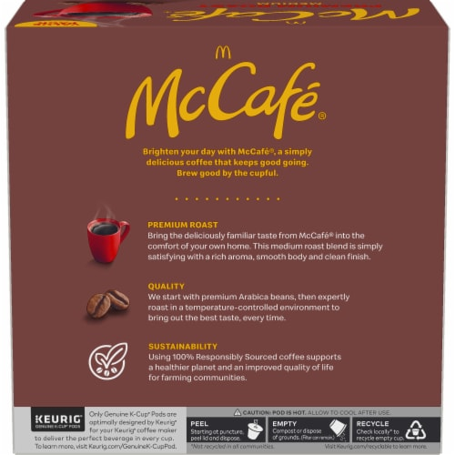 McCafe Premium Roast Medium Coffee K-Cup Pods Value Pack Perspective: left