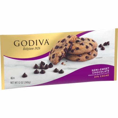 Godiva Semi-Sweet Premium Baking Chips Perspective: left