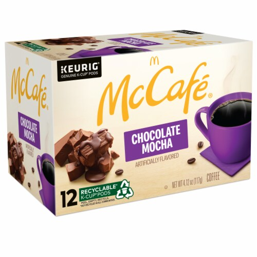 McCafe Chocolate Mocha Light Coffee K-Cup Pods 12 Count Perspective: left
