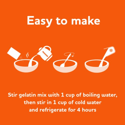 Jell-O Orange Gelatin Dessert Mix Perspective: left