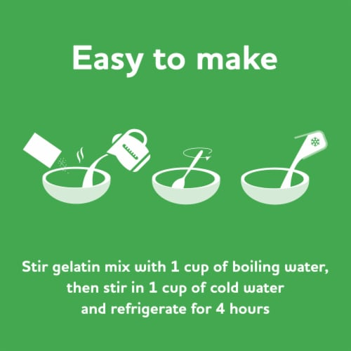 Jell-O Lime Gelatin Dessert Mix Perspective: left