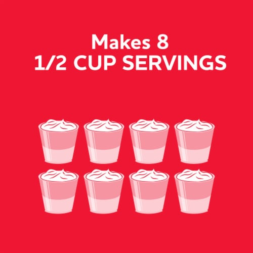Jell-O Strawberry Gelatin Dessert Mix Perspective: left