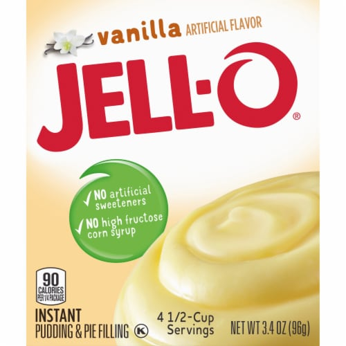 Jell-O Vanilla Instant Pudding & Pie Filling Perspective: left