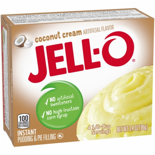 Jell-O Coconut Cream Instant Pudding & Pie Filling Perspective: left