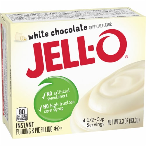 Jell-O White Chocolate Instant Pudding & Pie Filling Perspective: left
