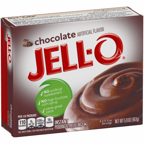 Jell-O Chocolate Instant Pudding & Pie Filling Perspective: left