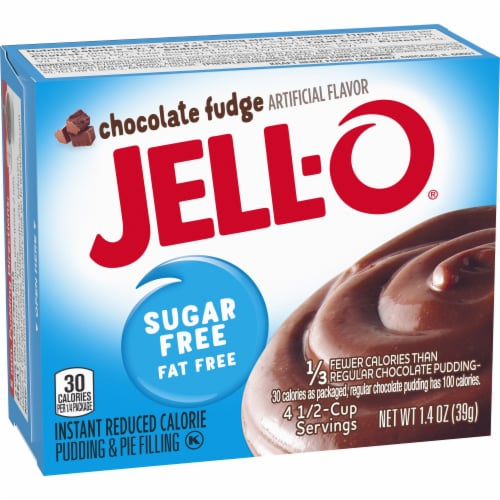 Jell-O Sugar Free Chocolate Fudge Instant Pudding & Pie Filling Perspective: left