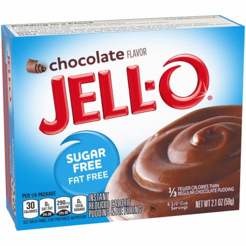 Jell-O Sugar Free Instant Chocolate Pudding & Pie Filling Perspective: left