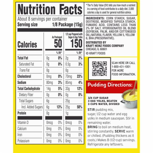 Jell-O Cook & Serve Lemon Pudding & Pie Filling Perspective: left