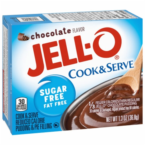Jell-O Cook & Serve Sugar Free Chocolate Pudding & Pie Filling Perspective: left