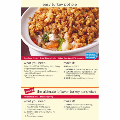 Stove Top Turkey Stuffing Mix Perspective: left