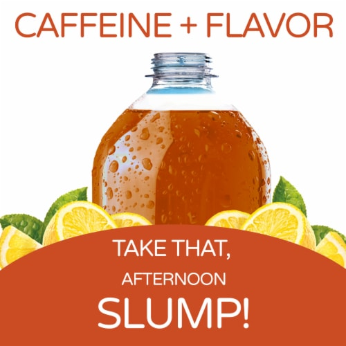 Crystal Light Lemon Iced Tea Drink Mix Packets Perspective: left