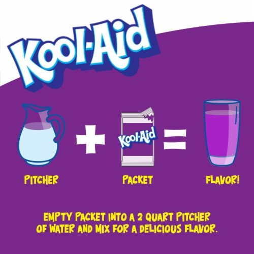 Kool-Aid Grape Powdered Unsweetened Drink Mix Perspective: left