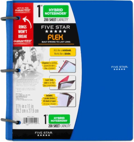 "Five Star® Flex 1"" Hybrid Notebinder - Assorted Perspective: left"