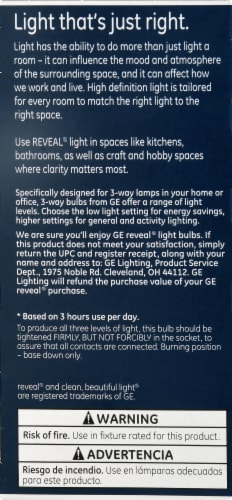 GE Reveal 3-Way Light Bulb Perspective: left