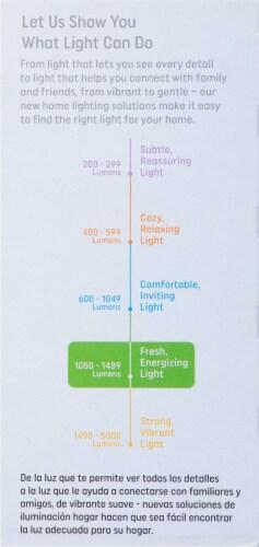 GE 30/70/100-Watt 3-Way A21 Light Bulb Perspective: left
