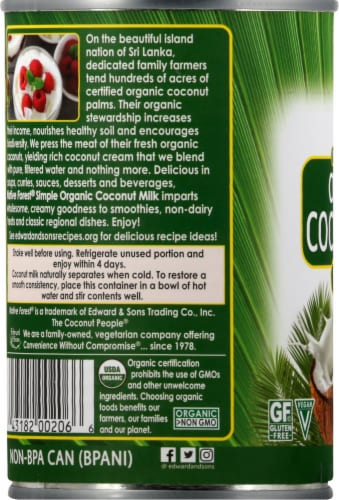 Native Forest Organic Unsweetened Coconut Milk Simple Perspective: left