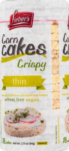 Lieber's Thin Crispy Corn Cakes Perspective: left