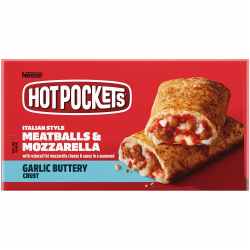 Hot Pockets Meatball & Mozzarella Garlic Buttery Crust Stuffed Sandwiches Perspective: left