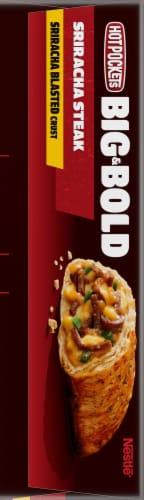Hot Pockets Frozen Snack Big & Bold Sriracha Steak Frozen Sandwich Perspective: left