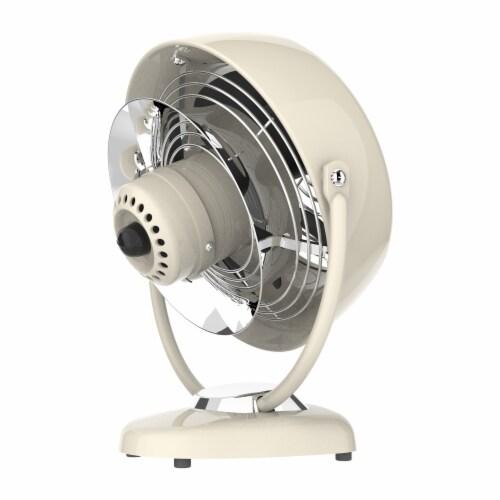 Vornado VFAN Vintage Air Circulator Fan - Vintage White Perspective: left
