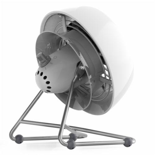 Vornado VFAN Mini Modern Vintage Air Circulator Fan - Ice White Perspective: left