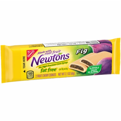 Newtons Fat Free Chewy Fig Cookies Perspective: left