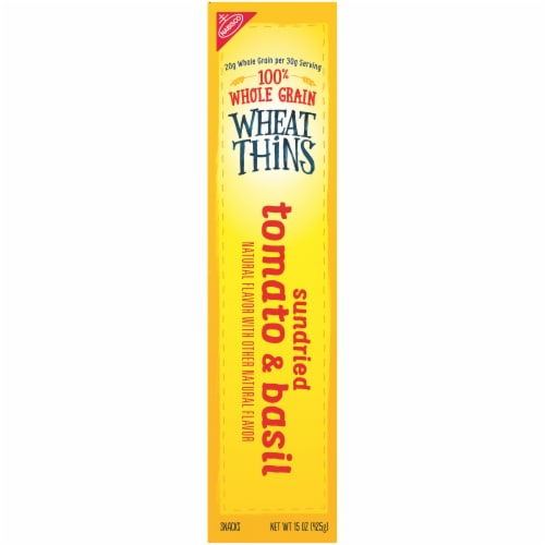 Wheat Thins Sundried Tomato & Basil Crackers Family Size Perspective: left