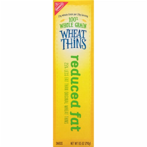 Wheat Thins Reduced Fat Crackers Perspective: left