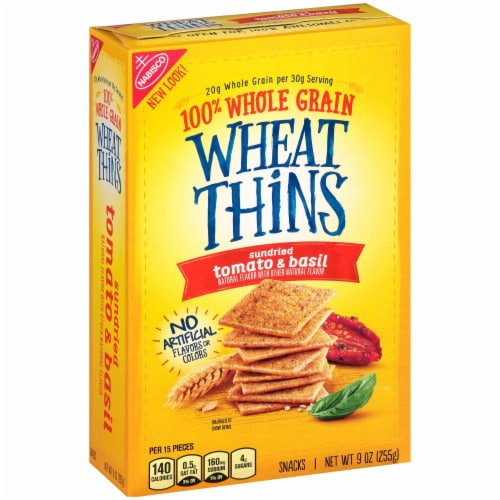 Wheat Thins Sundried Tomato & Basil Flavored Snack Crackers Perspective: left