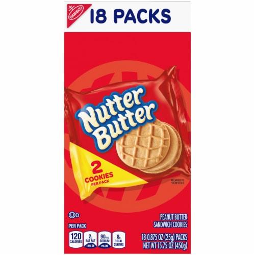Nutter Butter Peanut Butter Sandwich Cookies Perspective: left