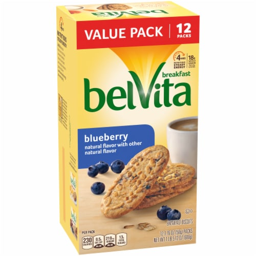 belVita Blueberry Breakfast Biscuits Value Pack 12 Count Perspective: left