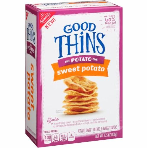 Good Thins The Potato One Sweet Potato Snack Crackers Perspective: left