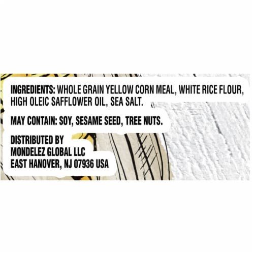 Good Thins Sea Salt Corn Snack Crackers Perspective: left