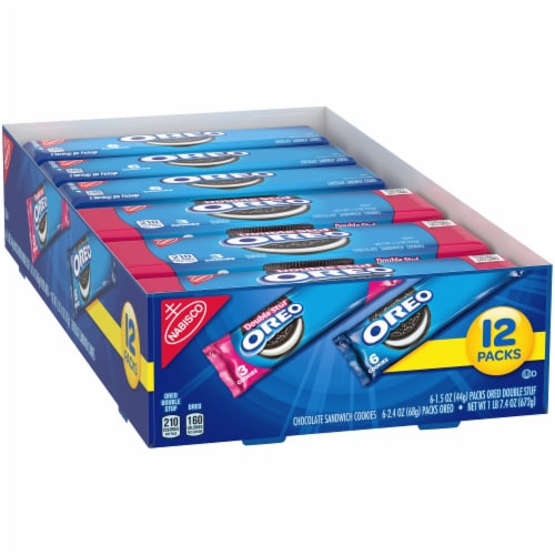 Oreo & Oreo Double Stuf Chocolate Sandwich Cookies Variety Pack Perspective: left