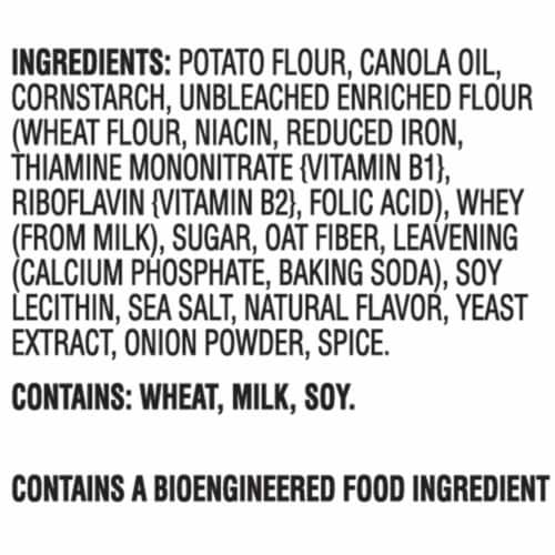 Ritz Crisp & Thins Original with Creamy Onion & Sea Salt Oven-Baked Chips Family Size Perspective: left