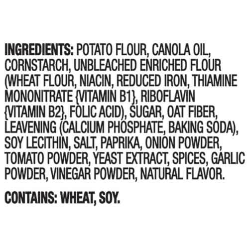 Ritz Crisp & Thins Barbecue Flavored Oven Baked Potato and Wheat Chips Perspective: left