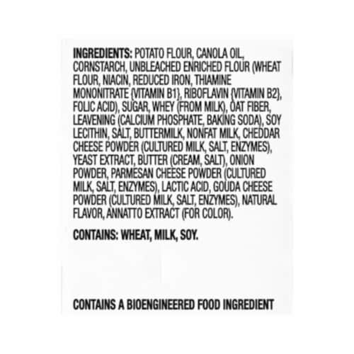 Ritz Crisp & Thins Cheddar Flavored Oven Baked Potato and Wheat Chips Perspective: left