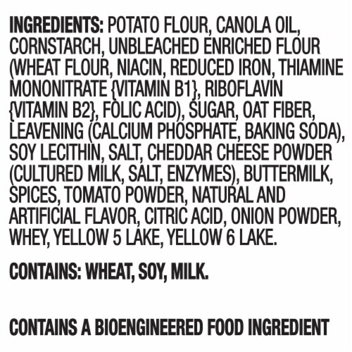 Ritz Crisp & Thins Jalapeno Cheddar Potato and Wheat Chips Perspective: left