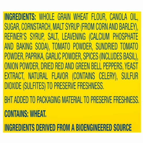 Nabisco Wheat Thins Sundried Tomato & Basil Crackers Perspective: left