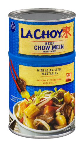 La Choy Beef Chow Mein Perspective: left