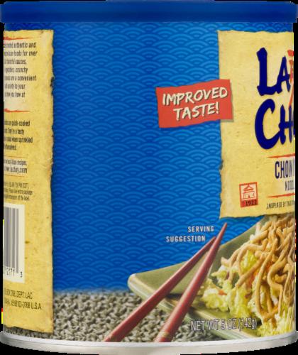 La Choy Chow Mein Noodles Perspective: left